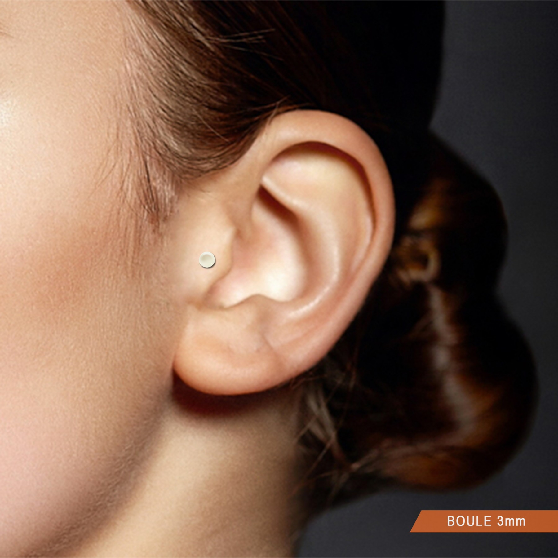 Yellow Gold Natural White Pearl Tragus Piercing