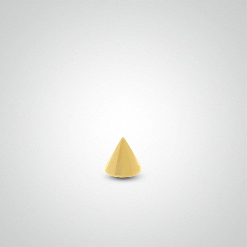 18 carats yellow gold spike piercing 1,2mm(16ga).
