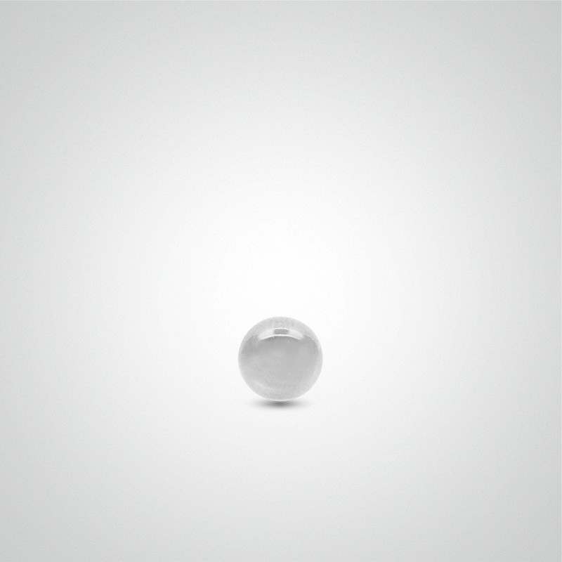 18 carats white gold ball 1,2mm (16ga).