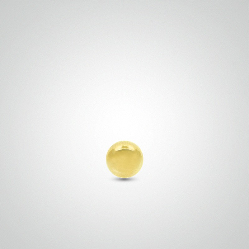 18 carats yellow gold ball 1,2mm (16ga).