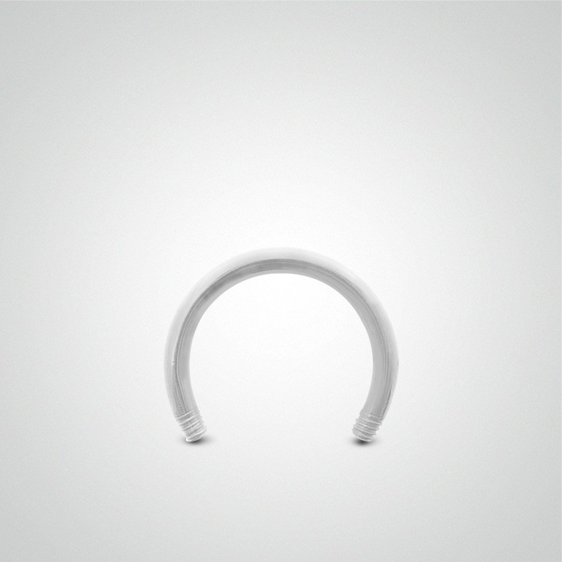 18 carats white gold circular barbell 1,2mm (16ga).