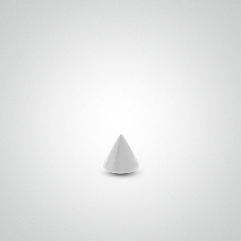 18 carats white gold spike 1,2mm (16ga).