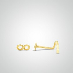 Yellow gold infinity nose stud