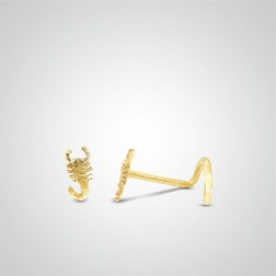 Yellow gold scorpion nose stud