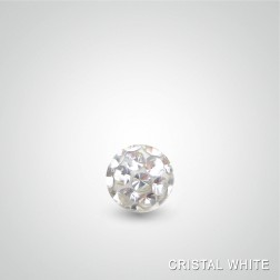 Swarovski crystal piercing ball