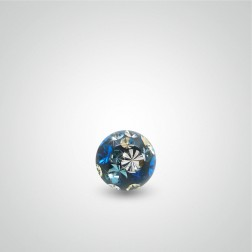 Swarovski crystal piercing ball (multicolour)