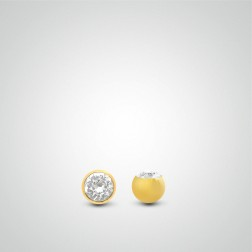 Yellow gold ball zircon 1,6mm (14ga)