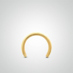 Yellow gold circular barbell 1,2mm (16ga)