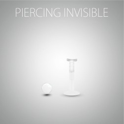 Invisible lips piercing