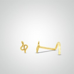 Yellow gold snake nose stud