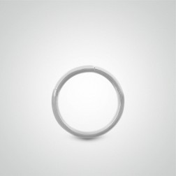 Piercing de nombril anneau segment en or blanc (1,6mm)