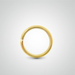 Yellow gold easy to open tragus ring